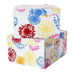 "LINGO Box with lid for paper  Width: 11 "" Depth: 13 ¾ "" Height: 7 "" Package quantity: 2 pack  Width: 28 cm Depth: 35 cm Height: 18 cm Package quantity: 2 pack"