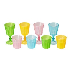 DUKTIG glass, multicolour Package quantity: 8 pieces