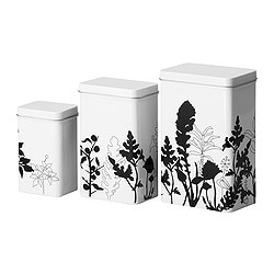 IKEA | Food storage & organizing | Jars, tins & food savers | TRIPP | Storage tin with lid, set of 3 from ikea.com