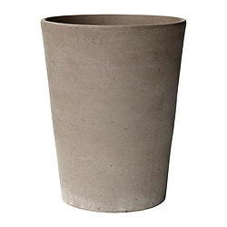 MANDEL plant pot, grey-brown Outside diameter: 13 cm Max. diameter flowerpot: 12 cm Height: 17 cm