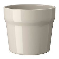 "ORÄDD plant pot, beige, beige indoor/outdoor Outside diameter: 4 ¾ "" Max. diameter inner pot: 4 ¼ "" Height: 4 "" Outside diameter: 12 cm Max. diameter inner pot: 10.5 cm Height: 10 cm"