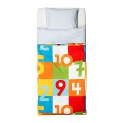 VITAMINER SIFFRA quilt cover and pillowcase, multicolour Quilt cover length: 200 cm Quilt cover width: 150 cm Pillowcase length: 80 cm