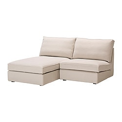 KIVIK one-seat section with chaise longue, Ingebo light beige Width: 180 cm Depth: 163 cm Height: 83 cm