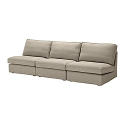 KIVIK three-seat sofa combination, Tenö light grey Width: 270 cm Depth: 98 cm Height: 83 cm