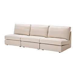 KIVIK three-seat sofa combination, Ingebo light beige Width: 270 cm Depth: 98 cm Height: 83 cm