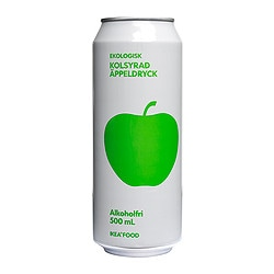 KOLSYRAD ÄPPELDRYCK sparkling apple drink non-alcoholic Volume: 16.9 oz Volume: 500 ml