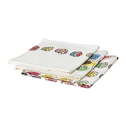 "ETTY tea-towel, assorted patterns Length: 28 "" Width: 20 "" Package quantity: 3 pack Length: 70 cm Width: 50 cm Package quantity: 3 pack"
