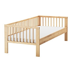 GULLIVER bed frame with slatted bed base, birch Length: 165 cm Width: 76 cm Head/footboard height: 57 cm