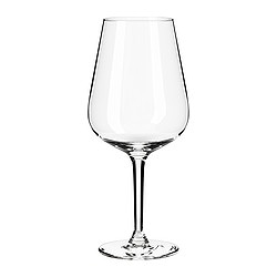 HEDERLIG red wine glass, clear glass