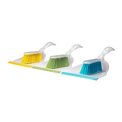 BLASKA dust pan and brush, assorted colors