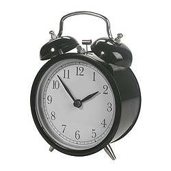 DEKAD alarm clock, black Height: 14 cm