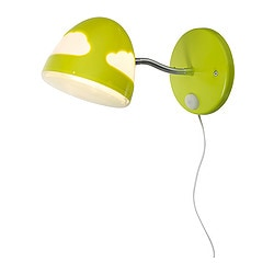 SKOJIG wall lamp, green Diameter: 16 cm Height: 30 cm Cord length: 170 cm