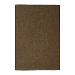 "EGEBY rug, flatwoven, medium brown Length: 6 ' 5 "" Width: 4 ' 4 "" Surface density: 6 oz/sq ft Length: 195 cm Width: 133 cm Surface density: 1820 g/m²"