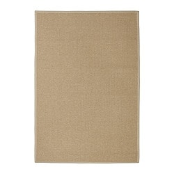 "EGEBY rug, flatwoven, natural Length: 6 ' 5 "" Width: 4 ' 4 "" Surface density: 6 oz/sq ft Length: 195 cm Width: 133 cm Surface density: 1820 g/m²"