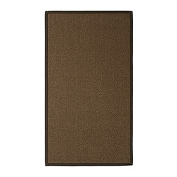 "EGEBY rug, flatwoven, medium brown Length: 4 ' 7 "" Width: 2 ' 7 "" Surface density: 6 oz/sq ft Length: 140 cm Width: 80 cm Surface density: 1820 g/m²"