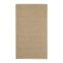 "EGEBY rug, flatwoven, natural Length: 4 ' 7 "" Width: 2 ' 7 "" Surface density: 6 oz/sq ft Length: 140 cm Width: 80 cm Surface density: 1820 g/m²"