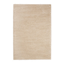 "ÅDUM rug, high pile, off-white Length: 6 ' 5 "" Width: 4 ' 4 "" Surface density: 11 oz/sq ft Length: 195 cm Width: 133 cm Surface density: 3300 g/m²"