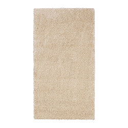 "ÅDUM rug, high pile, off-white Length: 4 ' 11 "" Width: 2 ' 7 "" Surface density: 11 oz/sq ft Length: 150 cm Width: 80 cm Surface density: 3300 g/m²"