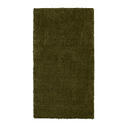 "ÅDUM rug, high pile, green Length: 4 ' 11 "" Width: 2 ' 7 "" Surface density: 11 oz/sq ft Length: 150 cm Width: 80 cm Surface density: 3300 g/m²"