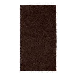 "ÅDUM rug, high pile, dark brown Length: 4 ' 11 "" Width: 2 ' 7 "" Surface density: 11 oz/sq ft Length: 150 cm Width: 80 cm Surface density: 3300 g/m²"