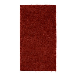 "ÅDUM rug, high pile, red Length: 4 ' 11 "" Width: 2 ' 7 "" Surface density: 11 oz/sq ft Length: 150 cm Width: 80 cm Surface density: 3300 g/m²"