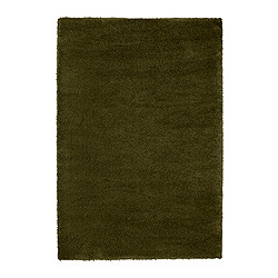 "ÅDUM rug, high pile, green Length: 6 ' 5 "" Width: 4 ' 4 "" Surface density: 11 oz/sq ft Length: 195 cm Width: 133 cm Surface density: 3300 g/m²"