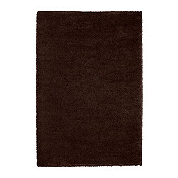 ÅDUM rug, high pile, dark brown Length: 195 cm Width: 133 cm Surface density: 3300 g/m²