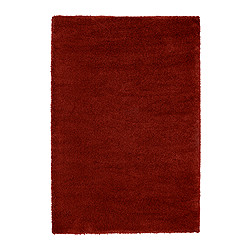 "ÅDUM rug, high pile, red Length: 6 ' 5 "" Width: 4 ' 4 "" Surface density: 11 oz/sq ft Length: 195 cm Width: 133 cm Surface density: 3300 g/m²"