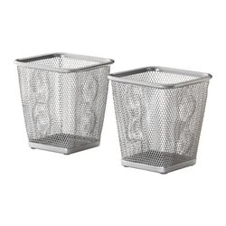 DOKUMENT pen cup, silver-colour Package quantity: 2 pack