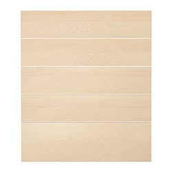NEXUS drawer front, set of 5, birch veneer Width: 39.6 cm Height: 69.4 cm Thickness: 1.9 cm