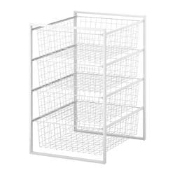 "ANTONIUS frame and wire baskets, white Width: 17 3/8 "" Depth: 21 1/4 "" Height: 27 1/2 "" Width: 44 cm Depth: 54 cm Height: 70 cm"