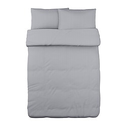 "OFELIA VASS duvet cover and pillowcase(s), gray Duvet cover length: 86 "" Duvet cover width: 86 "" Pillowcase length: 20 "" Duvet cover length: 218 cm Duvet cover width: 218 cm Pillowcase length: 51 cm"