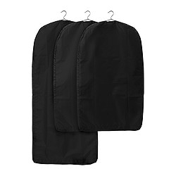 SKUBB clothes cover, set of 3, black