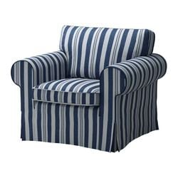 EKTORP armchair cover, Åbyn blue