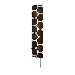 GYLLEN panel, flower, black/white Height: 95 cm