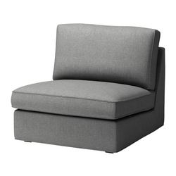 KIVIK one-seat section cover, Svanby grey