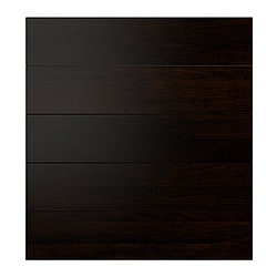 RAMSJÖ drawer front, set of 5, black-brown Width: 39.6 cm Height: 69.4 cm Thickness: 2 cm