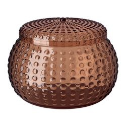 YNGAREN jar with lid, brown Diameter: 14.1 cm Height: 10.4 cm