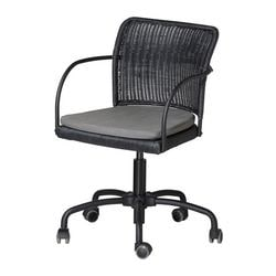 "GREGOR swivel chair, gray, black Tested for: 242 lb 8 oz Width: 21 5/8 "" Depth: 21 5/8 "" Tested for: 110 kg Width: 55 cm Depth: 55 cm"