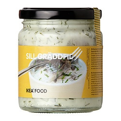 SILL GRÄDDFIL marinated herring in sour cream Net weight: 9 oz Net weight: 245 g