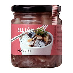 SILL LÖK marinated herring with onions Net weight: 9 oz Net weight: 250 g