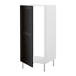 FAKTUM high cabinet for fridge, Ramsjö black-brown Width: 59.8 cm Depth: 60.0 cm Height: 141.0 cm