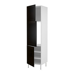 FAKTUM high cabinet for fridge or freezer, Ramsjö black-brown Width: 59.8 cm Depth: 60.0 cm Height: 233.0 cm