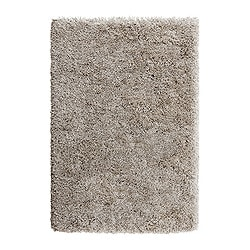 "GÅSER rug, high pile, beige Length: 6 ' 5 "" Width: 4 ' 4 "" Surface density: 13 oz/sq ft Length: 195 cm Width: 133 cm Surface density: 4070 g/m²"