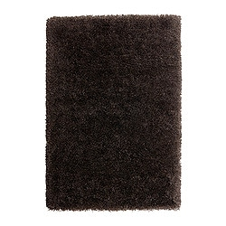 "GÅSER rug, high pile, brown Length: 6 ' 5 "" Width: 4 ' 4 "" Surface density: 13 oz/sq ft Length: 195 cm Width: 133 cm Surface density: 4070 g/m²"