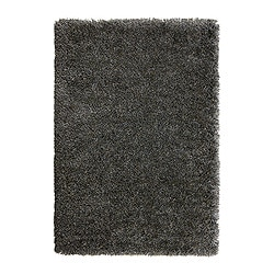 GÅSER rug, high pile, grey-blue Length: 195 cm Width: 133 cm Surface density: 4070 g/m²