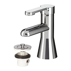 RÖRSKÄR wash-basin mixer tap with strainer, chrome-plated Height: 16 cm