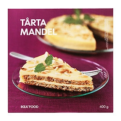 TÅRTA MANDEL almond cake, frozen Weight: 14.1 oz Weight: 400 g