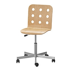 JULES swivel chair, silver-colour, birch Tested for: 110 kg Width: 56 cm Depth: 56 cm
