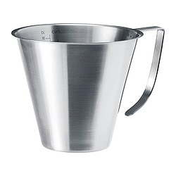 IDEALISK jug, stainless steel, graduated Height: 13.5 cm Volume: 1 l